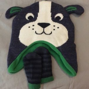 🐙Carters 3-9 Months Puppy Hat with Mittens🐙
